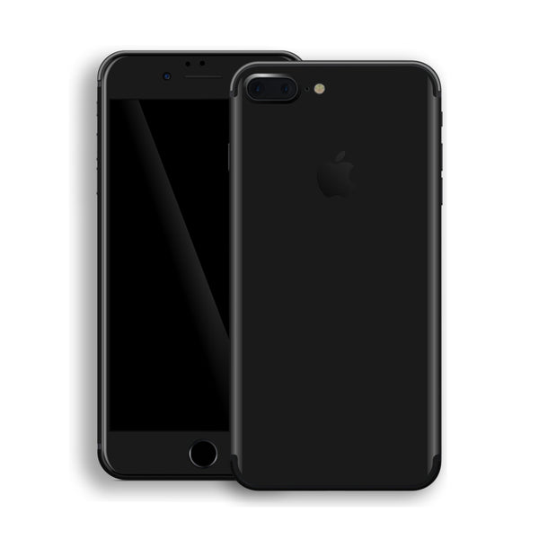 iPhone 8 Plus Black Glossy Gloss Finish Skin, Decal, Wrap, Protector, Cover by EasySkinz | EasySkinz.com