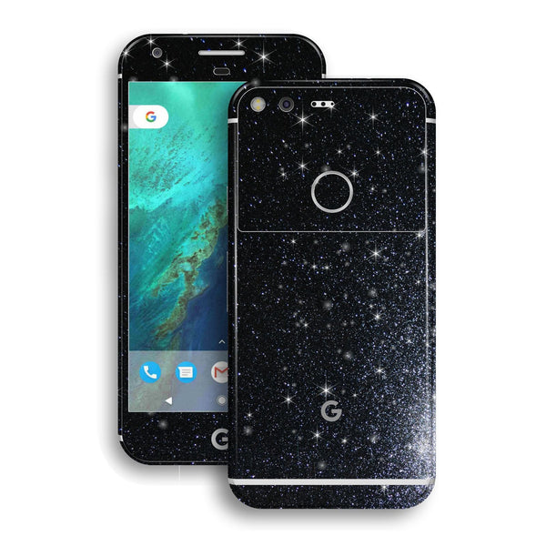 Google Pixel Diamond Black Shimmering Glitter Skin Wrap Decal by EasySkinz