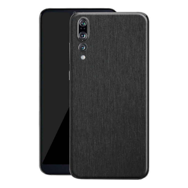 Huawei P20 PRO Brushed Black Metallic Metal Skin, Decal, Wrap, Protector, Cover by EasySkinz | EasySkinz.com