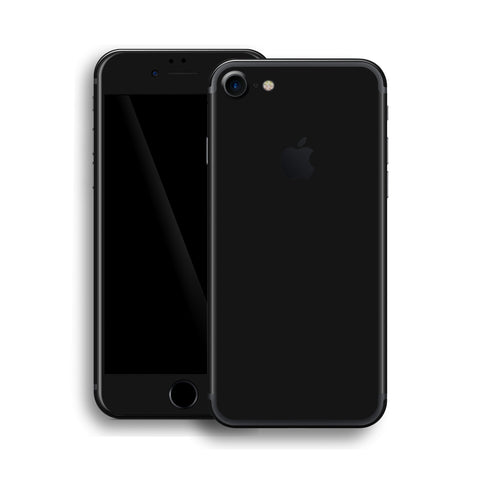 iPhone 7 Glossy Black Skin, Wrap, Decal, Protector, Cover by EasySkinz | EasySkinz.com