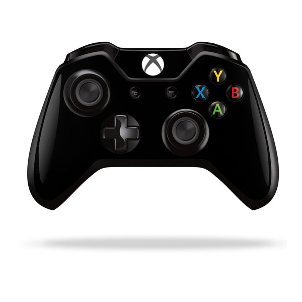 Xbox One Controller Black GLOSSY Finish Skin Wrap Sticker Decal Protector Cover by EasySkinz