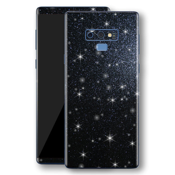 Samsung Galaxy NOTE 9 Diamond Black Shimmering, Sparkling, Glitter Skin, Decal, Wrap, Protector, Cover by EasySkinz | EasySkinz.com