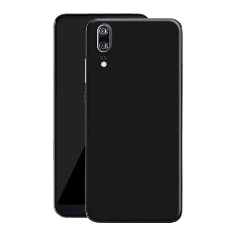Huawei P20 Black Matt Skin, Decal, Wrap, Protector, Cover by EasySkinz | EasySkinz.com