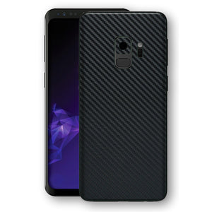 Samsung Galaxy S9 3D Textured Black Carbon Fibre Fiber Skin, Decal, Wrap, Protector, Cover by EasySkinz | EasySkinz.com