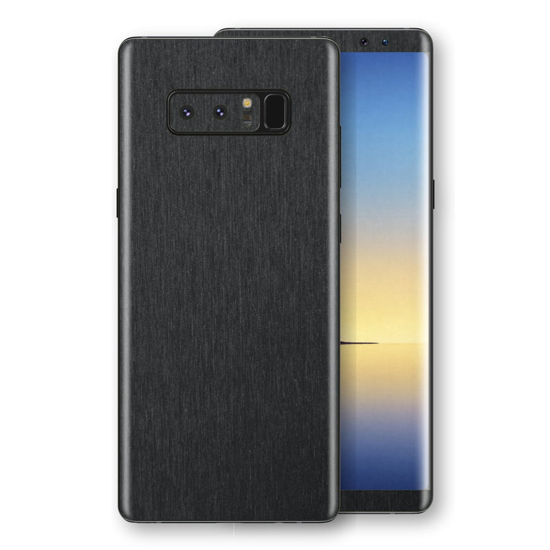 Samsung Galaxy NOTE 8 Brushed Black Metallic Metal Skin, Decal, Wrap, Protector, Cover by EasySkinz | EasySkinz.com