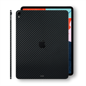 "iPad PRO 12.9"" 3rd Generation 2018 Black 3D Textured CARBON Fibre Fiber Skin Wrap Sticker Decal Cover Protector by EasySkinz"