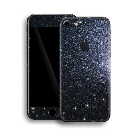 iPhone 7 Diamond BLACK Shimmering, Sparkling, Glitter Skin, Wrap, Decal, Protector, Cover by EasySkinz | EasySkinz.com