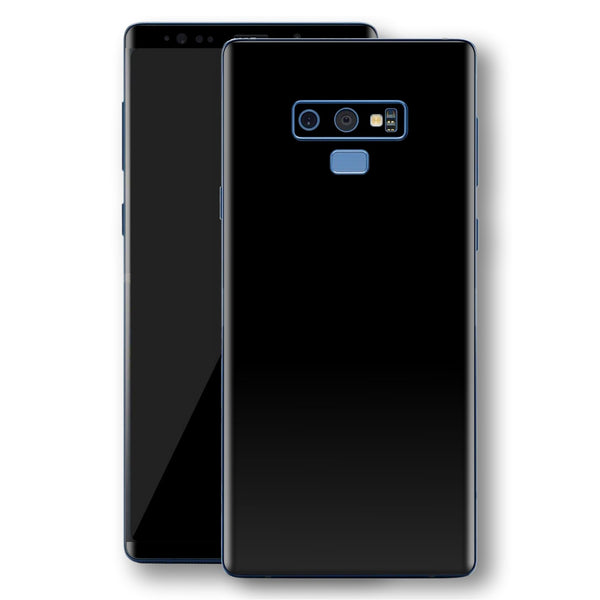 Samsung Galaxy NOTE 9 Black Glossy Gloss Finish Skin, Decal, Wrap, Protector, Cover by EasySkinz | EasySkinz.com