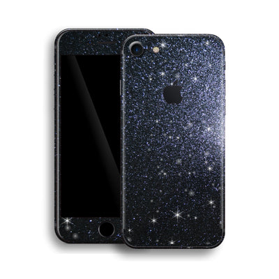 iPhone 8 Diamond BLACK Shimmering, Sparkling, Glitter Skin, Wrap, Decal, Protector, Cover by EasySkinz | EasySkinz.com