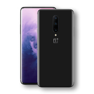 OnePlus 7 PRO Black Glossy Gloss Finish Skin, Decal, Wrap, Protector, Cover by EasySkinz | EasySkinz.com