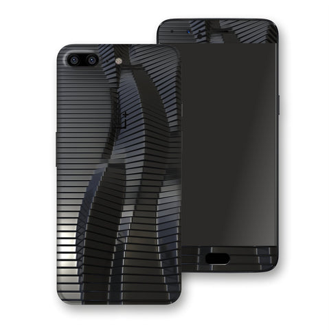OnePlus 5 Black 3D Stripes Skin, Decal, Wrap, Protector, Cover by EasySkinz | EasySkinz.com