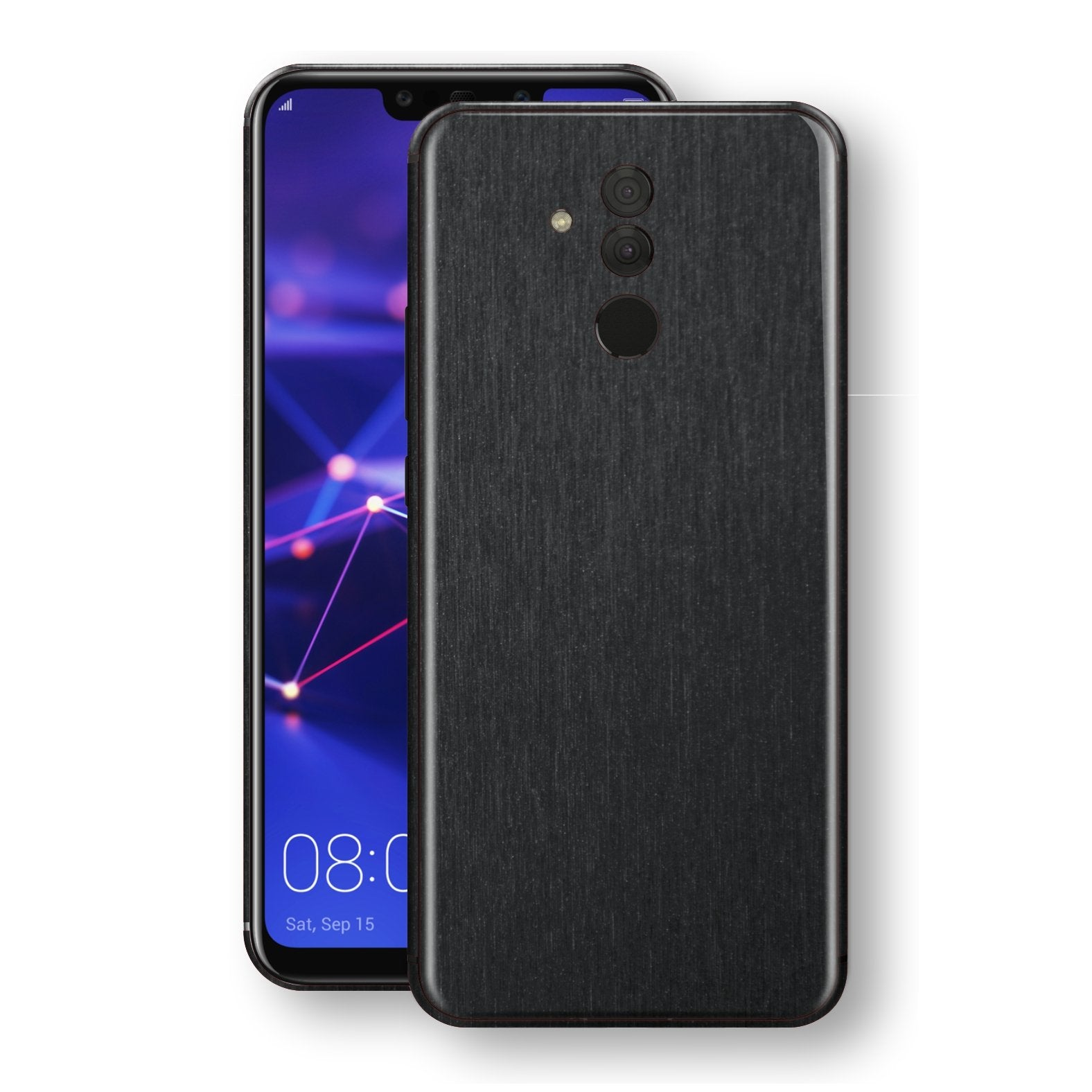 Huawei MATE 20 LITE Brushed Black Metallic Metal Skin, Decal, Wrap, Protector, Cover by EasySkinz | EasySkinz.com