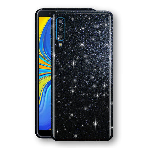 Samsung Galaxy A7 (2018) Diamond Black Shimmering, Sparkling, Glitter Skin, Decal, Wrap, Protector, Cover by EasySkinz | EasySkinz.com