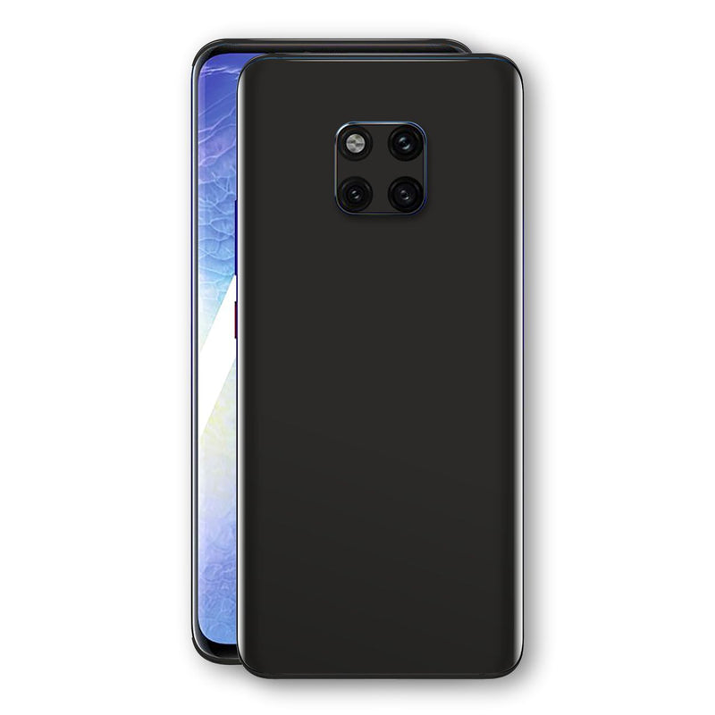 Huawei MATE 20 PRO Black Glossy Gloss Finish Skin, Decal, Wrap, Protector, Cover by EasySkinz | EasySkinz.com