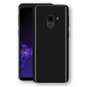 Samsung GALAXY S9 Black Matt Skin, Decal, Wrap, Protector, Cover by EasySkinz | EasySkinz.com