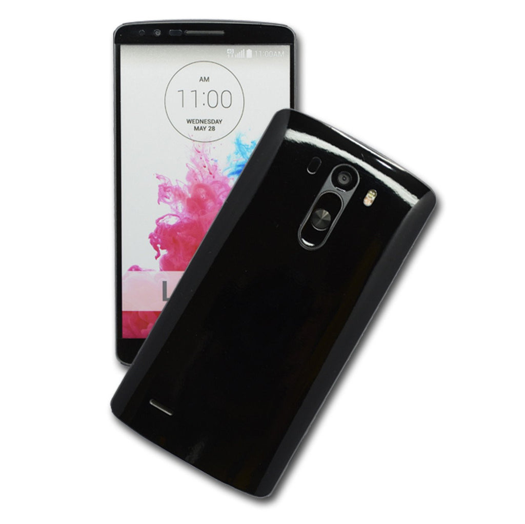 LG G3 Glossy Black Skin Sticker Wrap Cover Decal Protector