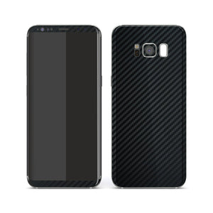 Samsung Galaxy S8 3D Textured Black Carbon Fibre Fiber Skin, Decal, Wrap, Protector, Cover by EasySkinz | EasySkinz.com