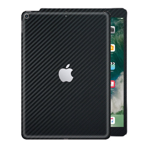"iPad 9.7"" inch 5th Generation 2017 3D Textured Black CARBON Fibre Fiber Skin Wrap Sticker Decal Cover Protector by EasySkinz"
