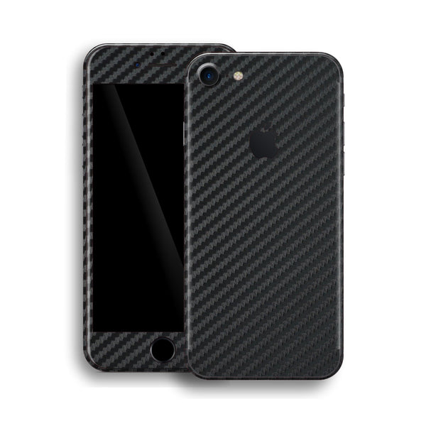 iPhone 8 Black 3D Textured CARBON Fibre Fiber Skin, Wrap, Decal, Protector, Cover by EasySkinz | EasySkinz.com
