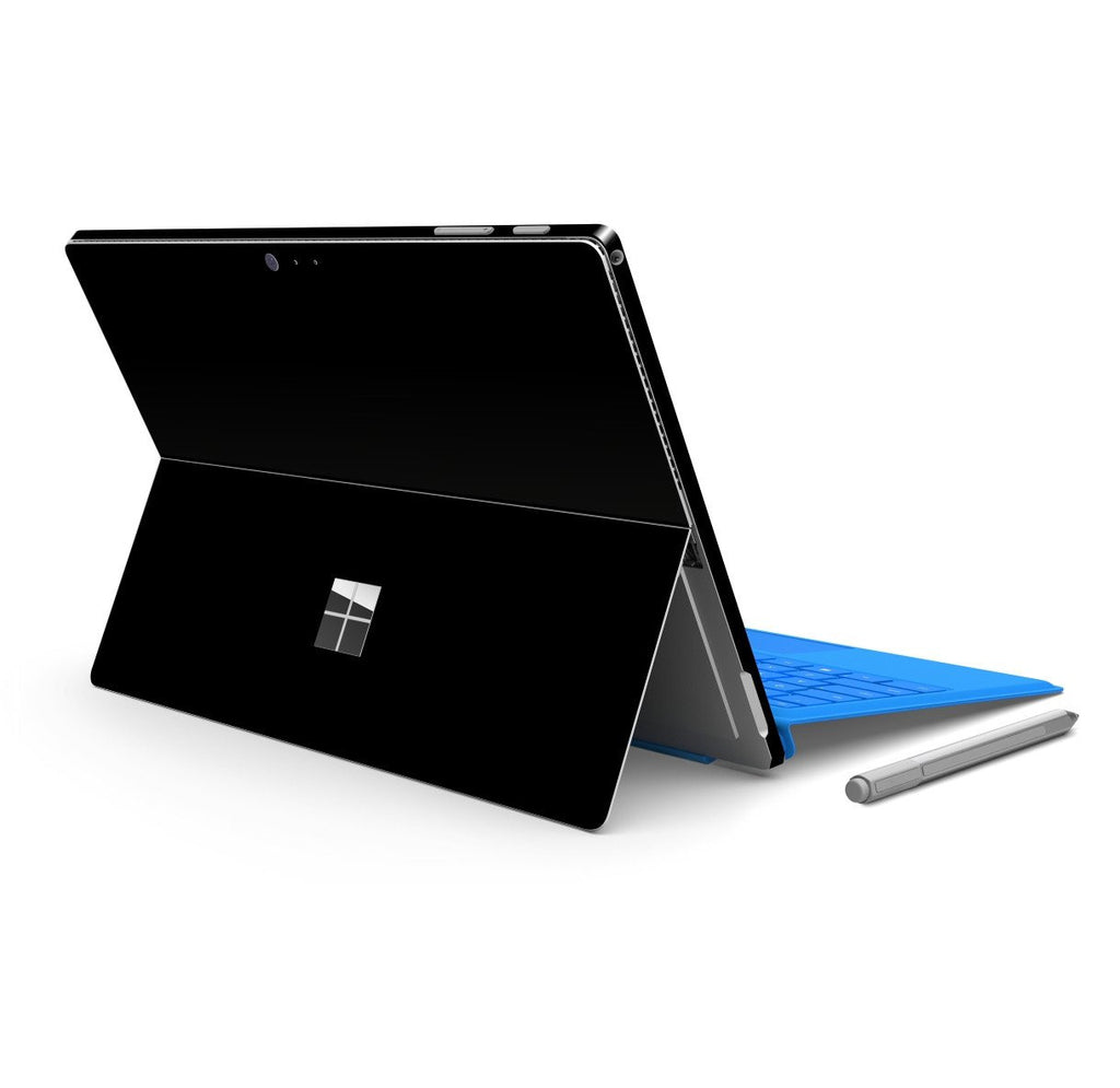 Microsoft Surface PRO 4 Glossy Black Skin Wrap Sticker Decal Cover Protector by EasySkinz