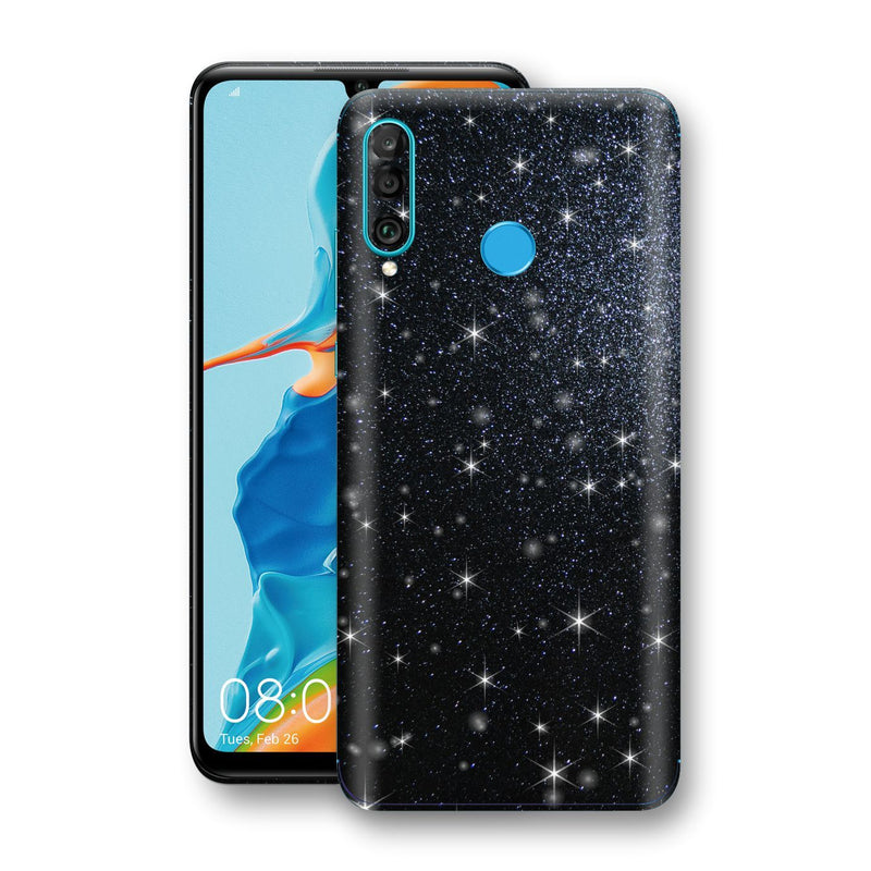 Huawei P30 LITE Diamond Black Shimmering, Sparkling, Glitter Skin, Decal, Wrap, Protector, Cover by EasySkinz | EasySkinz.com