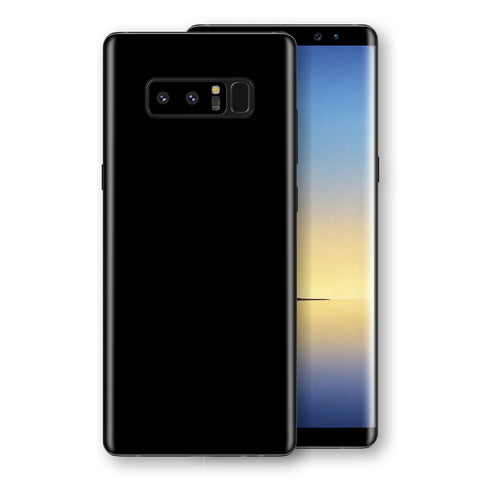 Samsung Galaxy NOTE 8 Black Glossy Gloss Finish Skin, Decal, Wrap, Protector, Cover by EasySkinz | EasySkinz.com