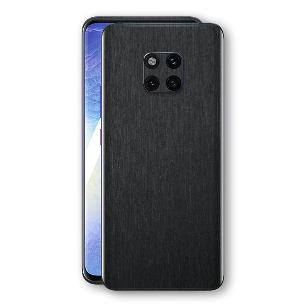 Huawei MATE 20 PRO Brushed Black Metallic Metal Skin, Decal, Wrap, Protector, Cover by EasySkinz | EasySkinz.com