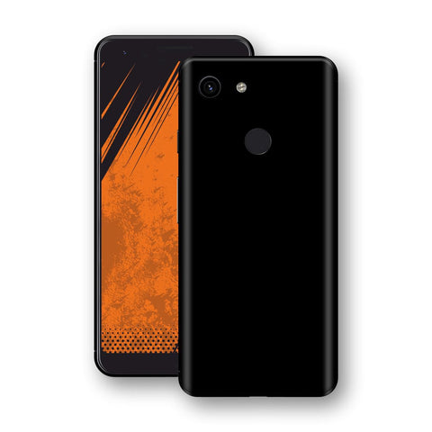 Google Pixel 3a Black Glossy Gloss Finish Skin, Decal, Wrap, Protector, Cover by EasySkinz | EasySkinz.com