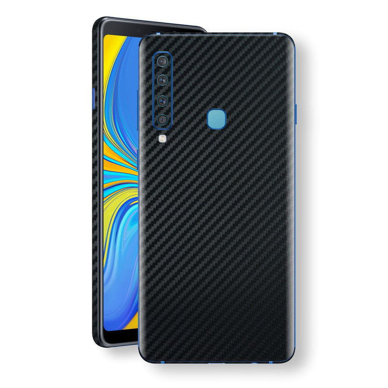 Samsung Galaxy A9 (2018) 3D Textured Black Carbon Fibre Fiber Skin, Decal, Wrap, Protector, Cover by EasySkinz | EasySkinz.com