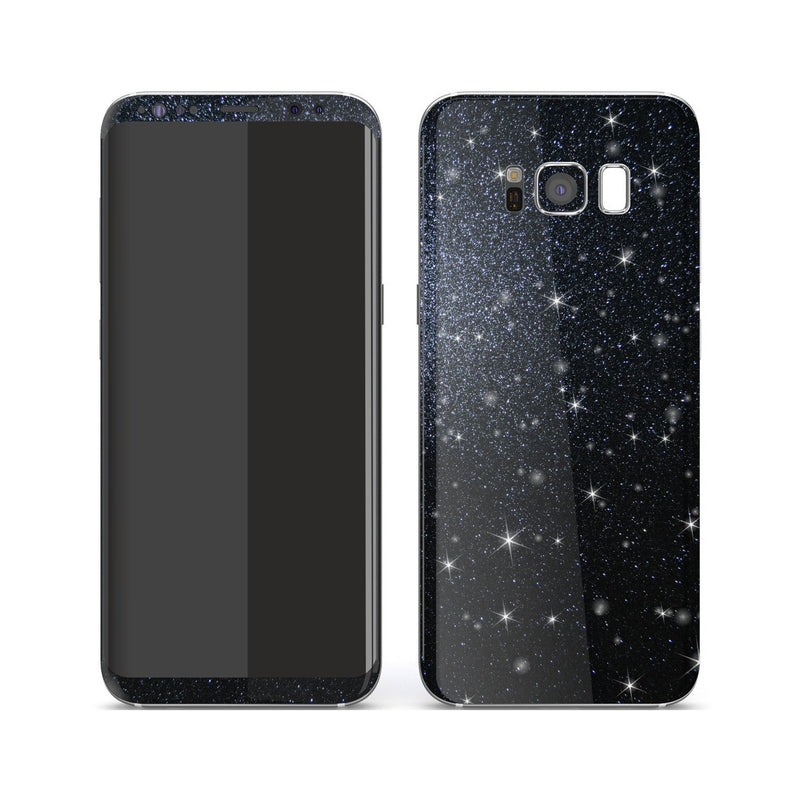 Samsung Galaxy S8 Diamond Black Shimmering, Sparkling, Glitter Skin, Decal, Wrap, Protector, Cover by EasySkinz | EasySkinz.com