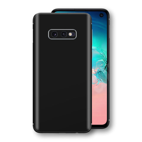 Samsung Galaxy S10e Black Glossy Gloss Finish Skin, Decal, Wrap, Protector, Cover by EasySkinz | EasySkinz.com