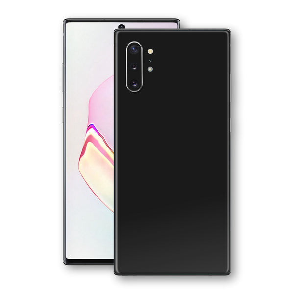 Samsung Galaxy NOTE 10+ PLUS Black Matt Skin, Decal, Wrap, Protector, Cover by EasySkinz | EasySkinz.com