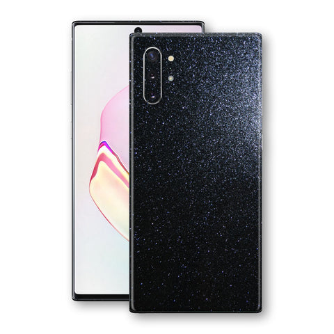 Samsung Galaxy NOTE 10+ PLUS Diamond Black Shimmering, Sparkling, Glitter Skin, Decal, Wrap, Protector, Cover by EasySkinz | EasySkinz.com