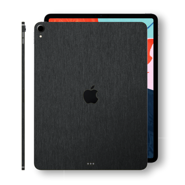 iPad PRO 11-inch 2018 3M Brushed Black Metallic Skin Wrap Sticker Decal Cover Protector by EasySkinz