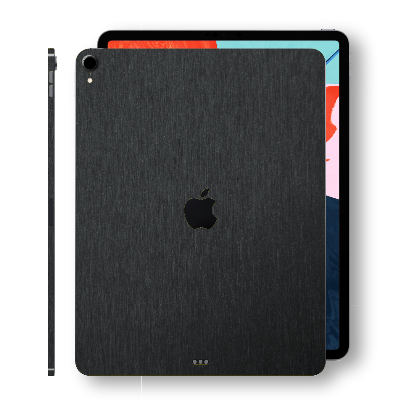 iPad PRO 12.9 inch 3rd Generation 2018 3M Brushed Black Metallic Skin Wrap Sticker Decal Cover Protector by EasySkinz