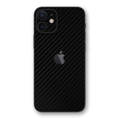 iPhone 12 mini Black 3D Textured CARBON Fibre Fiber Skin, Wrap, Decal, Protector, Cover by EasySkinz | EasySkinz.com