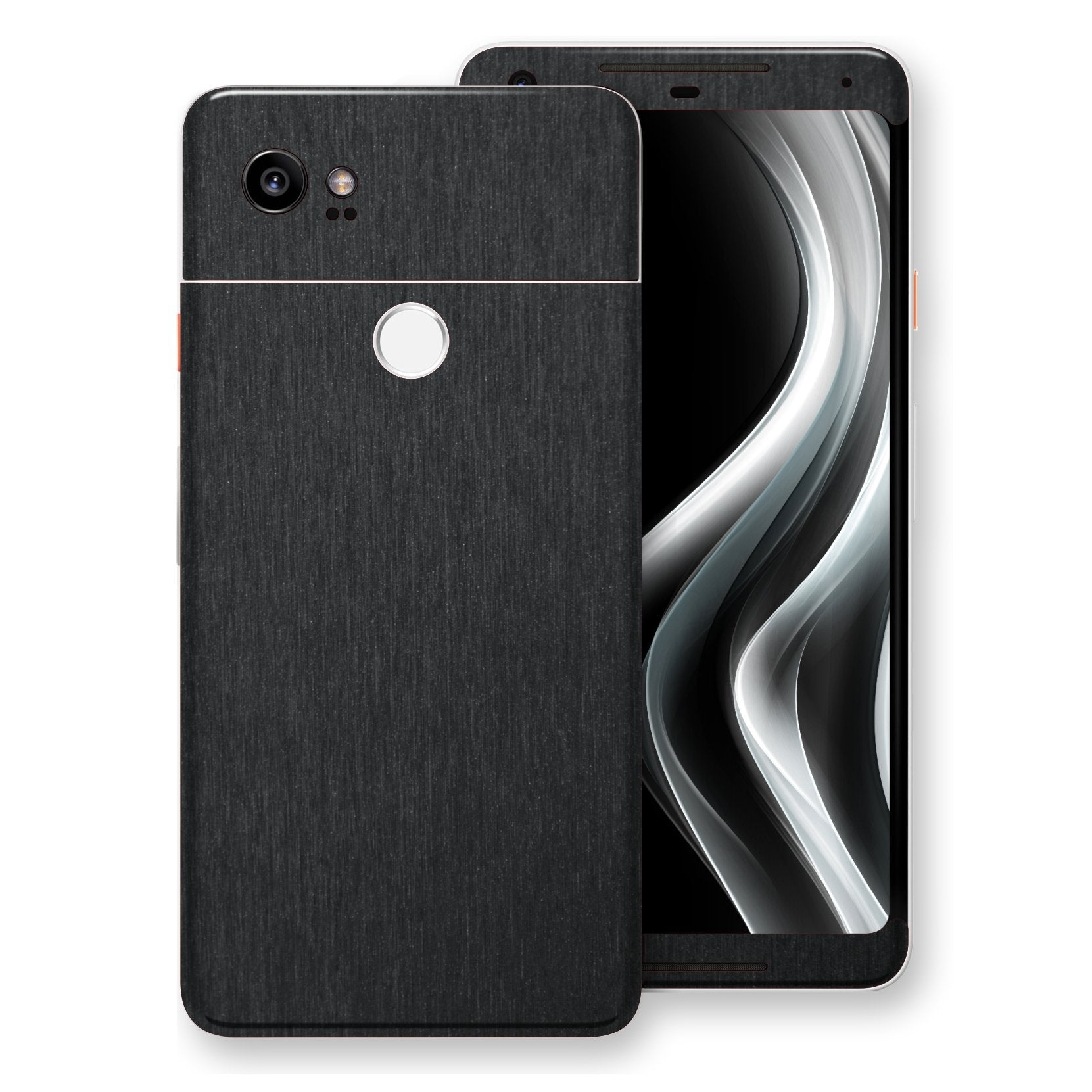 Google Pixel 2 XL Brushed Black Metallic Metal Skin, Decal, Wrap, Protector, Cover by EasySkinz | EasySkinz.com