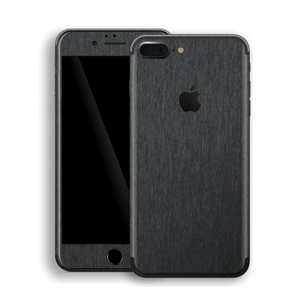 iPhone 7 Plus Brushed Black Metallic Skin, Decal, Wrap, Protector, Cover by EasySkinz | EasySkinz.com