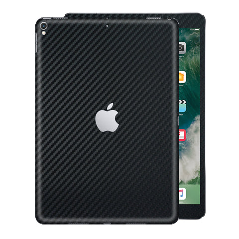 "iPad PRO 12.9"" 2nd Generation 2017 3D Textured Black CARBON Fibre Fiber Skin Wrap Sticker Decal Cover Protector by EasySkinz"