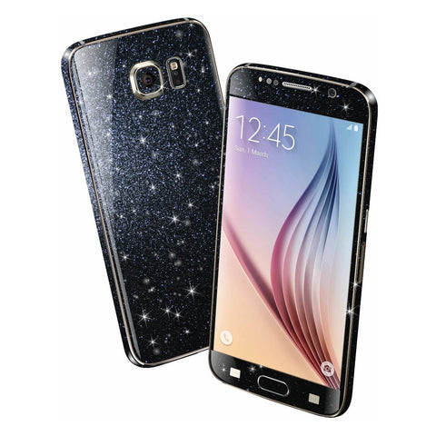 Samsung Galaxy S6 DIAMOND BLACK Shimmering Sparkling Glitter Skin Wrap Sticker Cover Decal Protector by EasySkinz