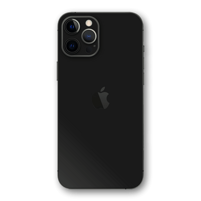 iPhone 12 Pro MAX BLACK Matt Matte Skin Wrap Decal Protector | EasySkinz