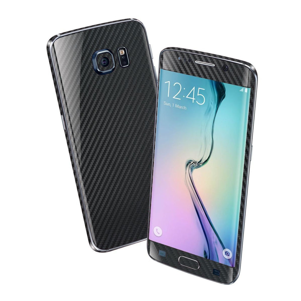 Samsung Galaxy S6 EDGE+ PLUS Black 3D CARBON Fibre Fiber Skin Wrap Sticker Cover Decal Protector by EasySkinz