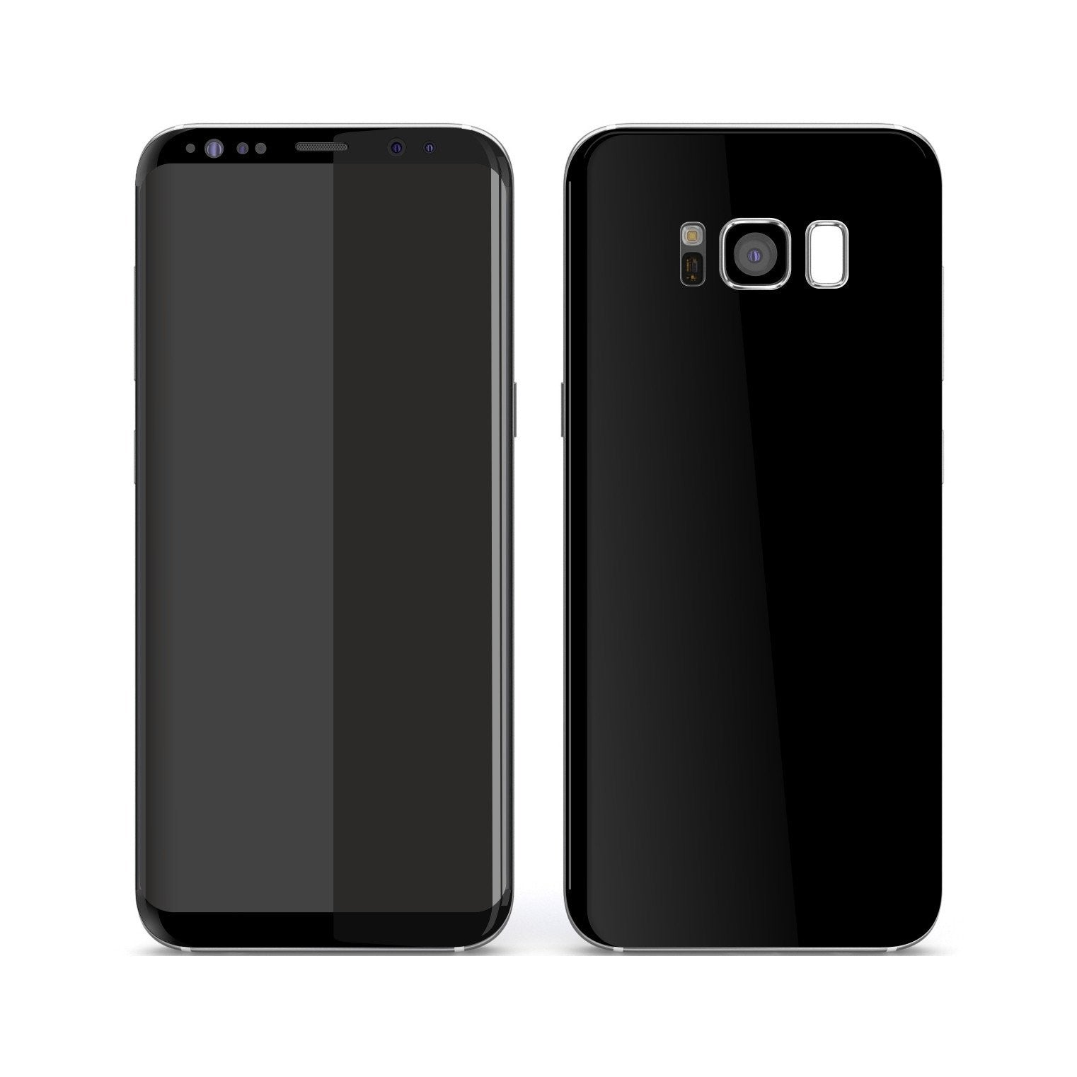 Samsung Galaxy S8+ Black Matt Skin, Decal, Wrap, Protector, Cover by EasySkinz | EasySkinz.com