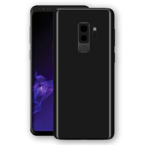 Samsung GALAXY S9+ PLUS Black Matt Skin, Decal, Wrap, Protector, Cover by EasySkinz | EasySkinz.com