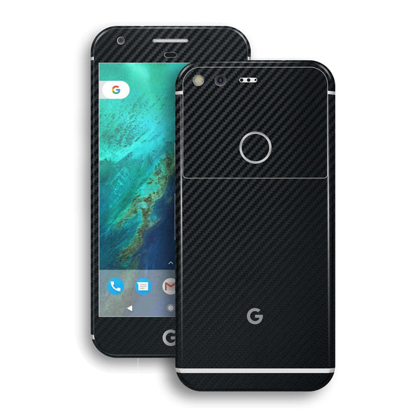 Google Pixel XL Black Carbon Fibre Fiber Skin Wrap Decal by EasySkinz