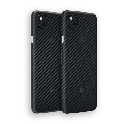 Google Pixel 4a 3D Textured Black Carbon Fibre Fiber Skin Wrap Sticker Decal Cover Protector by EasySkinz