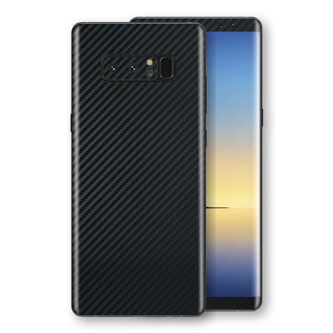 Samsung Galaxy NOTE 8 3D Textured Black Carbon Fibre Fiber Skin, Decal, Wrap, Protector, Cover by EasySkinz | EasySkinz.com