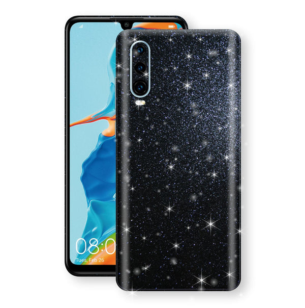 Huawei P30 Diamond Black Shimmering, Sparkling, Glitter Skin, Decal, Wrap, Protector, Cover by EasySkinz | EasySkinz.com