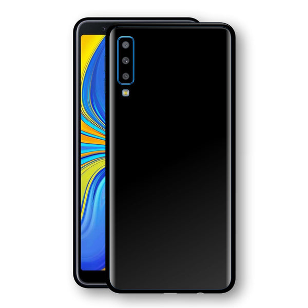 Samsung Galaxy A7 (2018) Black Matt Skin, Decal, Wrap, Protector, Cover by EasySkinz | EasySkinz.com