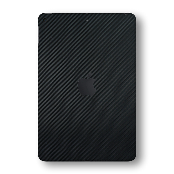 iPad MINI 5 (5th Generation 2019) Black 3D Textured CARBON Fibre Fiber Skin Wrap Sticker Decal Cover Protector by EasySkinz